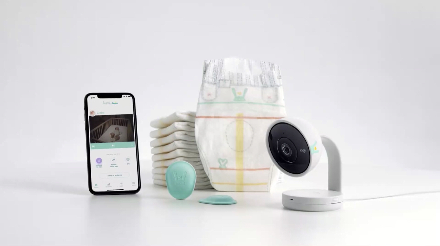 The Lumi by Pampers Connected Care System.