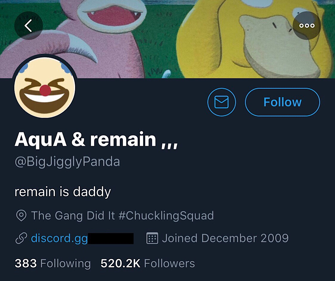 The altered bio from the BigJigglyPanda Twitter account while it was compromised.