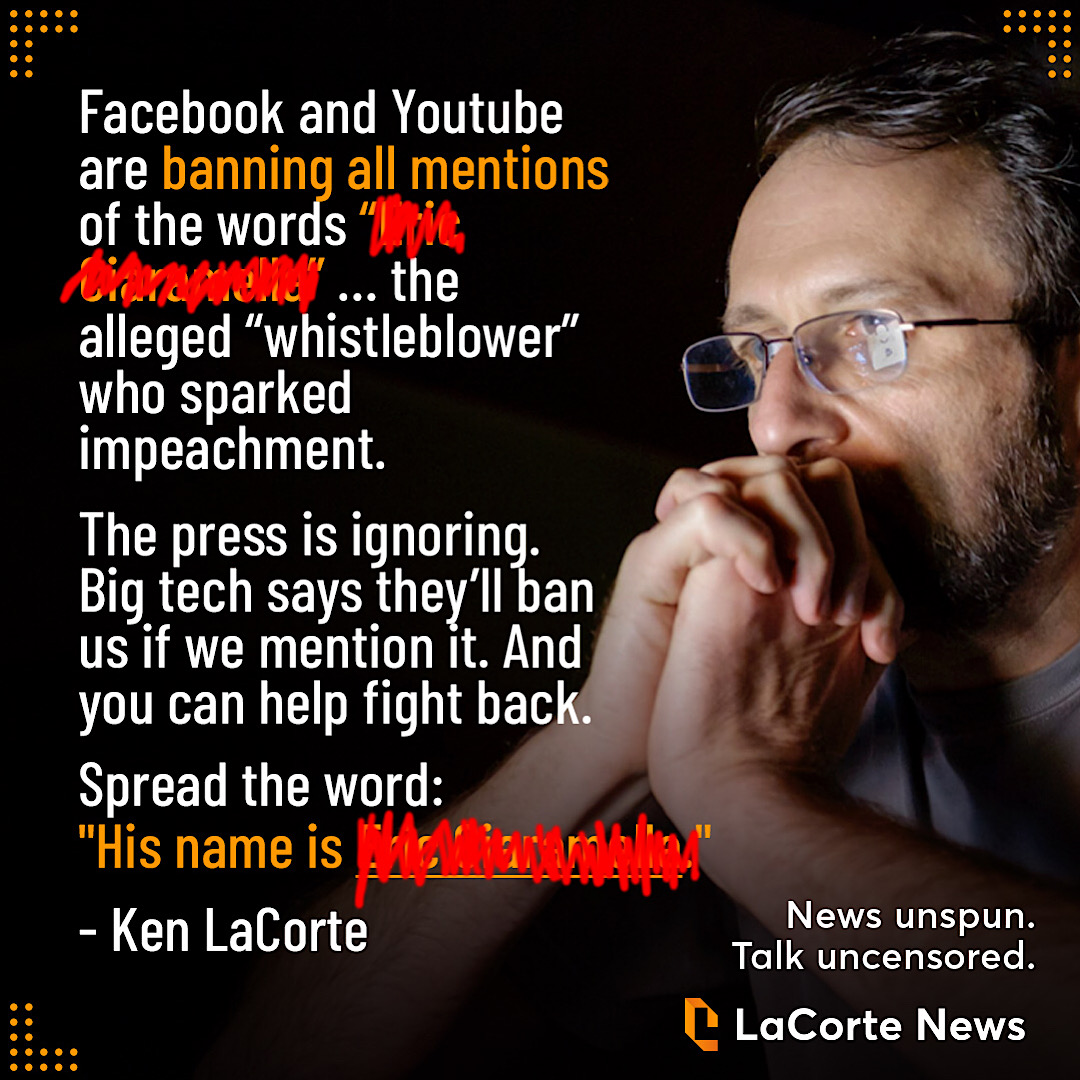 LaCorte news' final Facebook post before its Pages were deleted.