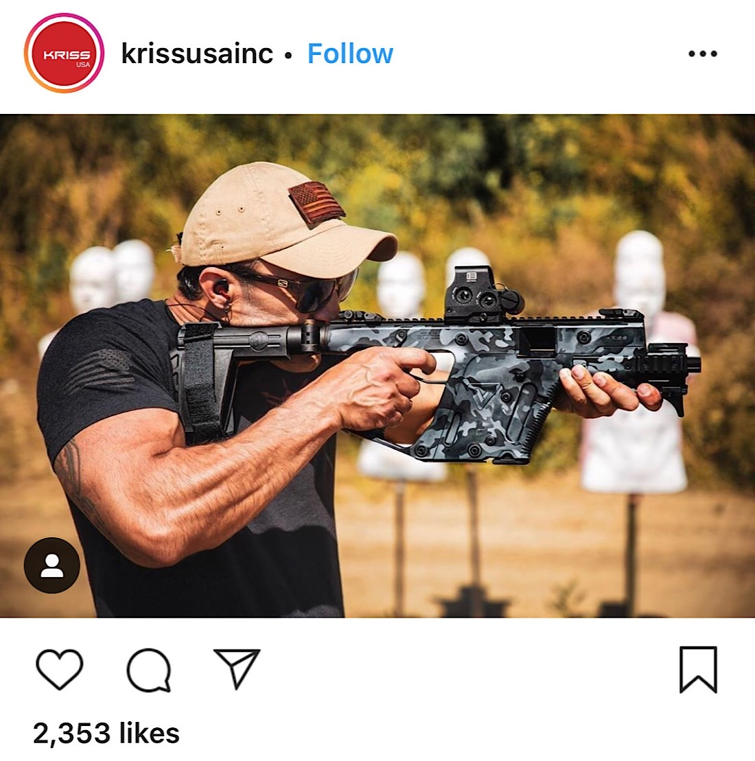 An Instagram post from firearms company Kriss USA Inc (Instagram - @krissusainc)