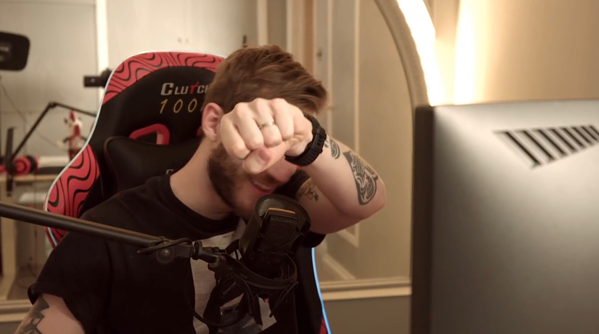 PewDiePie closed out his send-off video with one final Brofist (YouTube - PewDiePie)