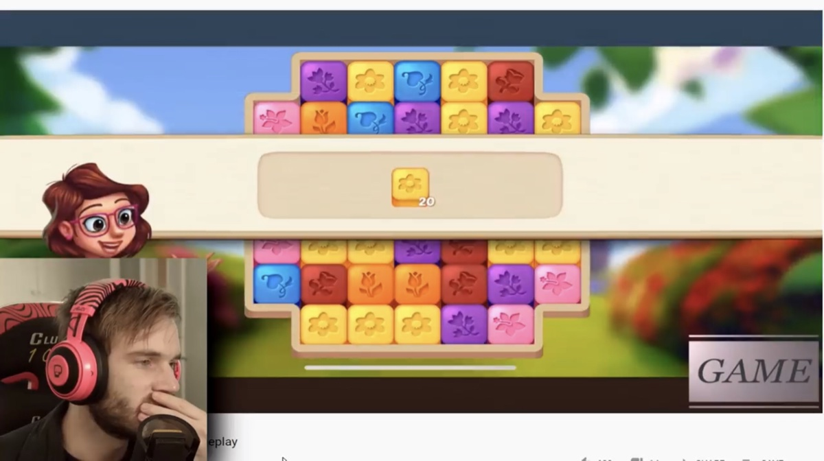 PewDiePie was critical of the puzzle-based gameplay in Lily's Garden being different from the character interactions shown in ads for the game (YouTube - PewDiePie)