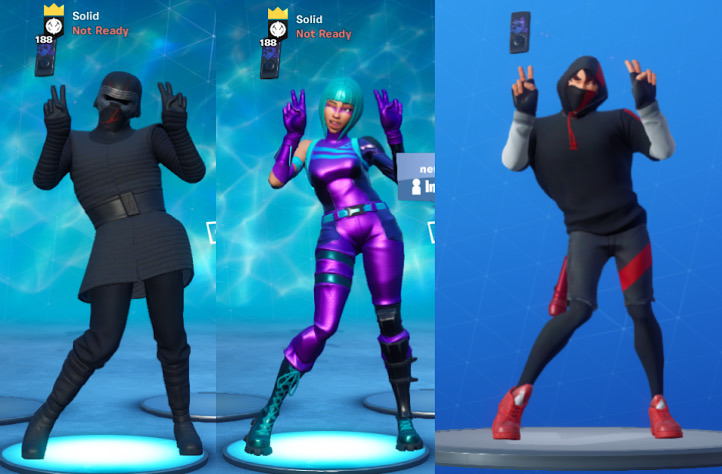 Several Fortnite characters get swollen chests when performing the Poki emote (Reddit - r/FortniteBR)