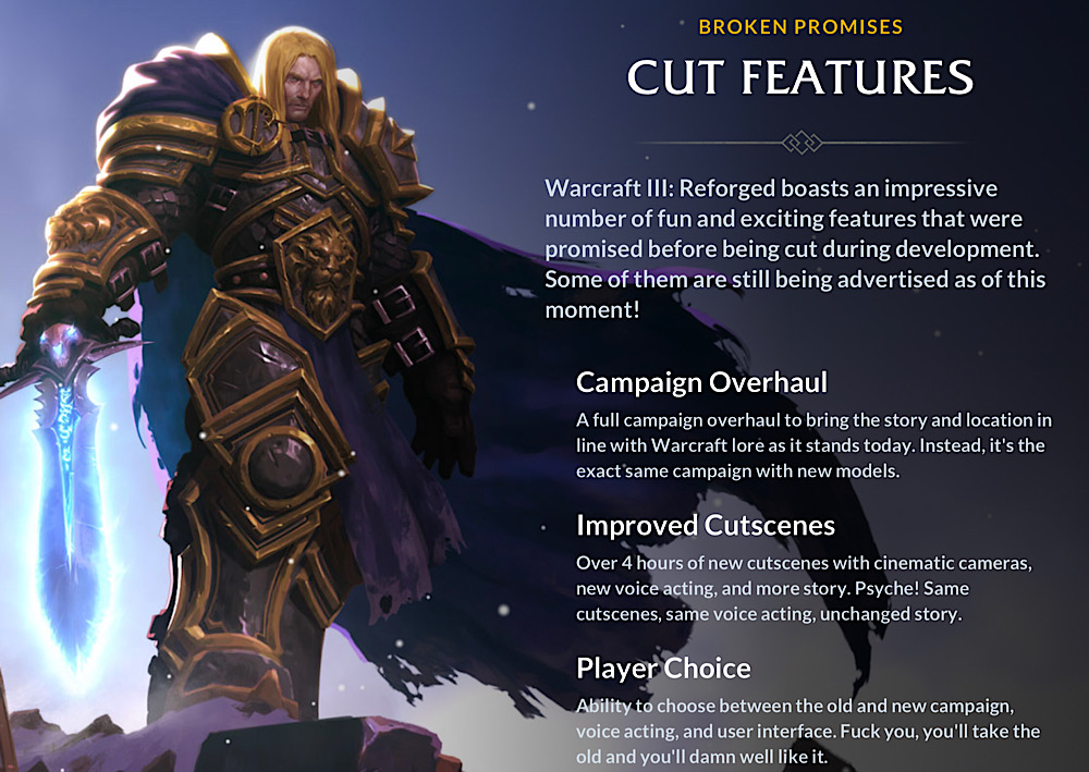 Blizzard Responds to Warcraft 3: Reforged Fan Feedback